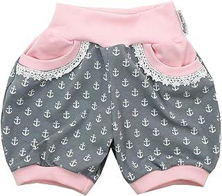 Kleine K/önige Kurze Pumphose Baby M/ädchen Shorts /· Modell Poolparty pink /· /Ökotex 100 Zertifiziert /· Gr/ö/ßen 50-152