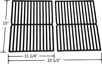 VICOOL HyG752B Cast Iron Grill Grates 7522 7523 7521 65904 65905 Replacement for Weber Spirit 200 Series, Spirit 500, Genesis Silver A Gas Grills, Set of 2 (15