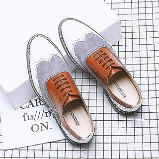 HLDJ Souliers Formels d'homme d'affaires Britannique Classique Oxford Chaussures Confortables Style Casual Boot Britanniqu...