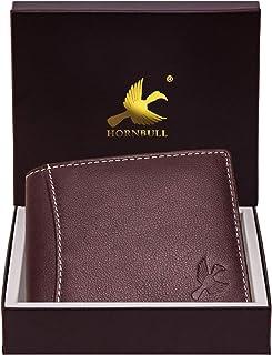 Hornbull Themes Brown Men's Genuine Leather RFID Blocking Wallet