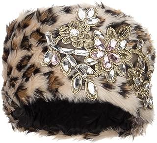 Pillbox Faux Fur Flower Lace Hat