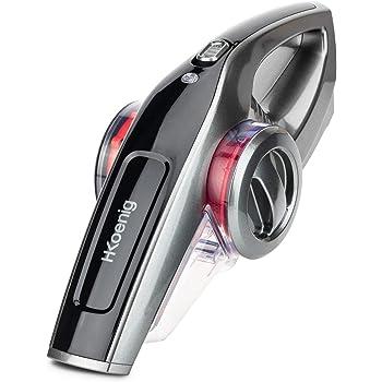 Aspiradora de Mano Sin Cable Potente, Potencia 100 W, Autonomía de Hasta 40 Min, Capacidad 0.8 L, 2 Velocidades, Rojo. H.Koenig_UP560: Amazon.es: Hogar