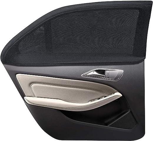 WIN.MAX Sonnenschutz Auto,Sonnenschutz Auto Baby mit Zertifiziertem UV Schutz,Universal Sonnenblende Auto Netz,für Seitenfenster Meshmaterial...