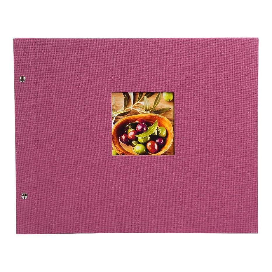 Goldbuch Bella Vista Screw Album, Fuchsia Parchment Dividers, 39?x 31?cm 40?White Pages, Linen, 28808