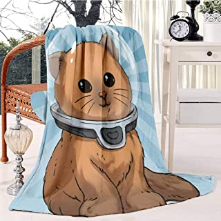 RECETHROWS Keep Calm Kitty Plush Throw Blanket Soft Receiving Blanket Bed Throws Christmas Sofa Shawl Blanket Kid Nursery Emergency Blanket for Living Room