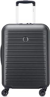 DELSEY PARIS - SEGUR 2.0 - Valise cabine rigide à double roues et serrure TSA intégrée - 55cm, 36.3L, Noir