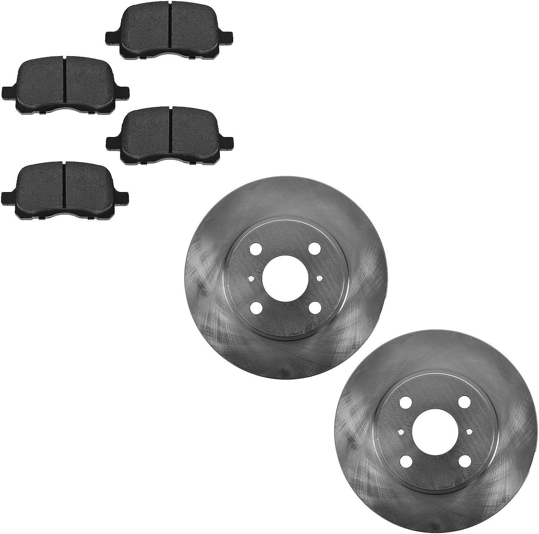 Front Metallic All items free shipping Brake Pad Rotor Nashville-Davidson Mall Kit Pr 98-02 for Corolla Toyota