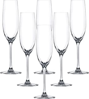 LUCARIS Bangkok Champagne Glass, Pack of 6, Clear, 180 ml, LS01CP0606
