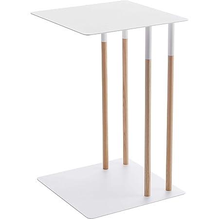 山崎実業(Yamazaki) サイドテーブル ホワイト 約W35XD35XH55cm プレーン 4803