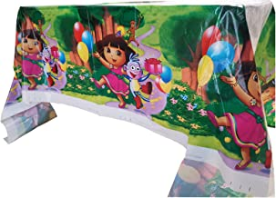 URANGEL 2 PCS Dora The Explorer Plastic Tablecloth Tablecovers for Dora The Explorer Themed Birthday Party Supplies Decora...
