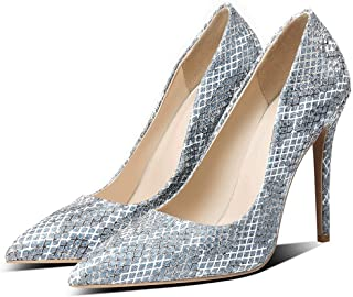 High Heels Large Size 40 To 50 For Banquet Wedding Dress Daily (Color : Blue, Size : 35)