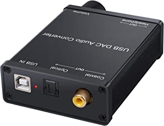 ELEVIEW USB DAC/DDC オーディオコンバーター ヘッドホンアンプ USBオーディオ→同軸・光デジタル・ステレオ アナログ出力 音量調節 (ボリュームコントローラー) EHD-636N