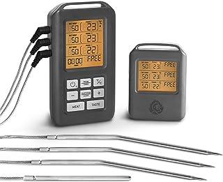Burnhard Funk Grillthermometer, Digital Braten-Thermometer für Grill & Backofen, 4..