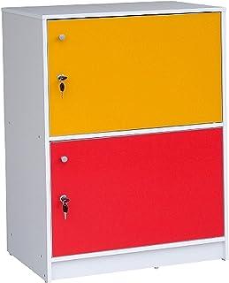 Multi Use Cabinet, 2 Door, Multi Color, Cb 829 C - H84Cm X L60Cm X W39Cm