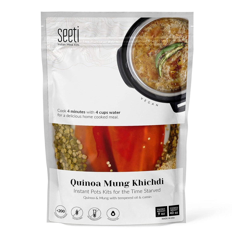 unisex SEETI Vegan Indian Quinoa Mung 4 years warranty Size Family Instant Dal Khichdi