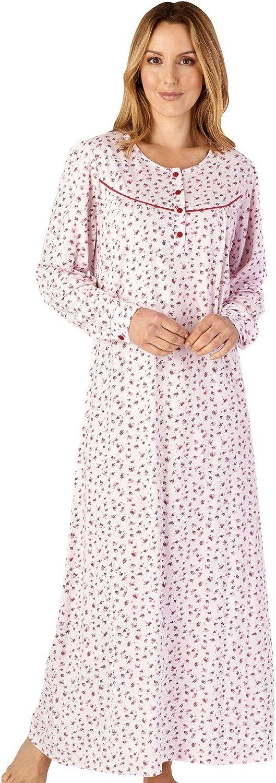Slenderella ND4113 Womens Jersey Floral Cotton Nightdress