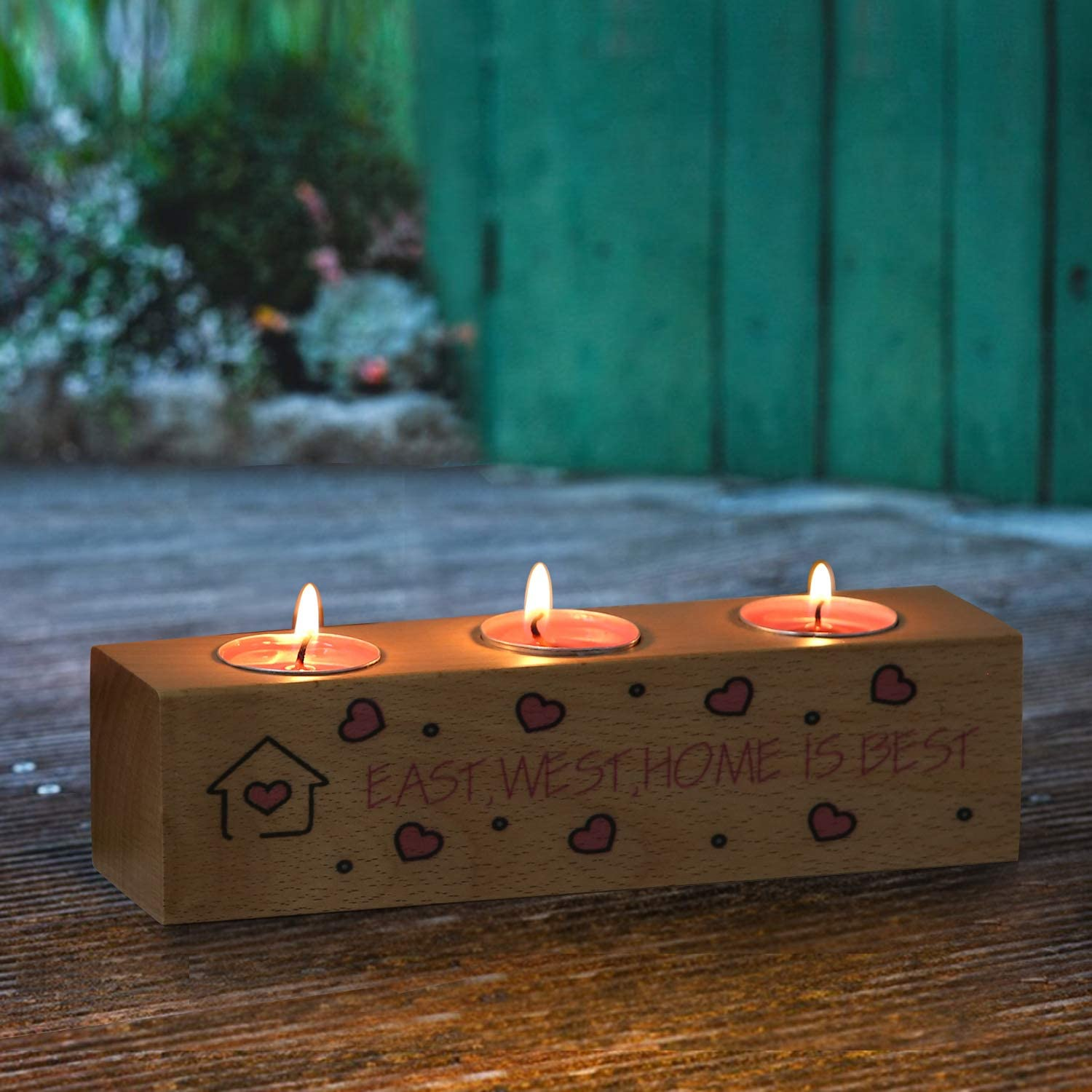 VECELO Excellence Wooden Candle Holder OFFicial site Tealight -Personalized Wood Holders