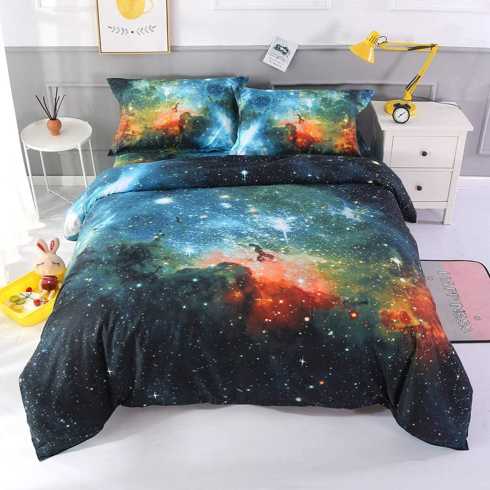 ENCOFT Popular brand in the world 3D Max 64% OFF Galaxy Bedding Sets Com Queen Size Cover Duvet