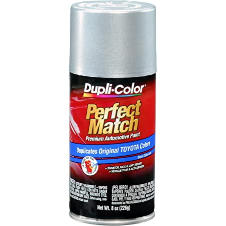 DupliColor Perfect Match Premium Toyota Automotive Paint, Silver (BTY1530) - 8 oz. Aerosol