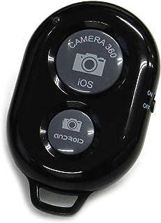 SODIAL Controlador Disparador Remoto Inalambrica Bluetooth de Camara de Autodisparador para IOS Android Smartphone Tablet Iphone 5s 5c 5 4s Ipad iPod Sony xperia Samsung Galaxy negro
