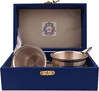 MSA Jewels Presents Pure Silver Glass with Spoon and Bowl Set