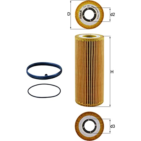 F Mahle OX 351D ECO Engine Oil Filter Element-VIN