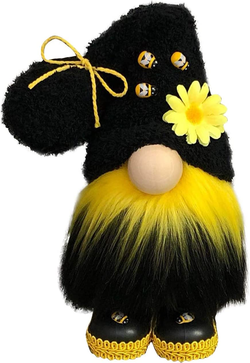 Bumble Bee Faceless Doll Handmade Plush Faceless Gnomes 1PC-A Spring Bumble Bee Gnomes Knitted Yellow /& Black Plush Scandinavian Tomte Nisse Swedish Decorations Honey Bee Sunflower