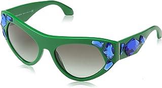 c4991ef0ef Prada 0PR21QS SMP0A7 56 Gafas de sol, Verde (Green/Grey), Mujer