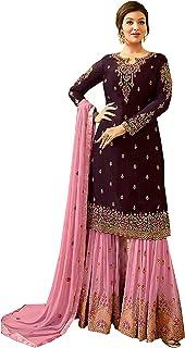 Indian/Pakistani Party Wear Wedding Wear Sharara Style Salwar Suit for Women Fiona