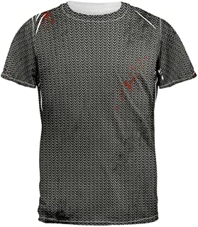 Halloween Battle Damage Chainmail Costume All Over Adult T-Shirt