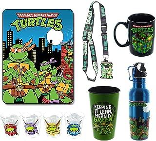 Teenage Mutant Ninja Turtles Bundle: Mug, Lanyard, Blanket, Shot Glasses, More