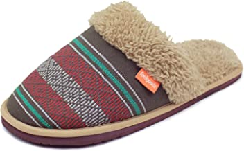 Feelgoodz Celestial Mule Womens Slippers - Uber Comfortable and Soft Faux Sherpa Lining, Woven Cham Pa Fabric Upper, Soft ...