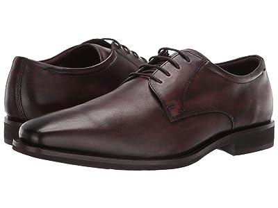 ECCO Calcan Plain Toe Tie (Cocoa Brown) Men