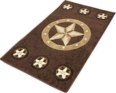 """Rugs 4 Less Collection Texas Lone Star State Novelty Area Rug R4L 78 Chocolate (2'X3'4"""")"""