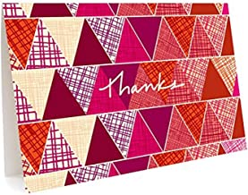 product image for Night Owl Paper Goods Geo Trio Folded Thank You Cards, Box Of 6