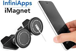 [Maker of iMagnet] Car Mount, infiniapps DuoMount [Magnetic Mount]. The Original, Best Patented CD Slot Mount, All Generat...