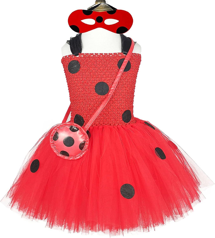 DosTutu Ladybug Costume for Girls 1-10 Super popular specialty store Dress Years Bi Up Manufacturer OFFicial shop Clothes