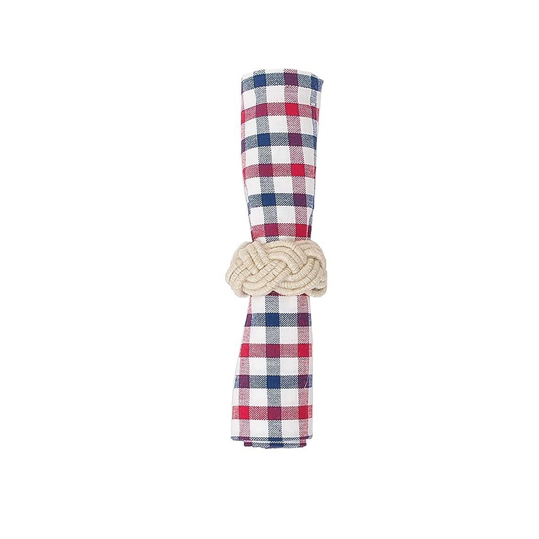 C&F Home Picnic Plaid Woven Cotton Patriotic 4th of July Memorial Day Labor Day Americana Liberty Napkin 18x18 Napkin Picnic Red Plaid