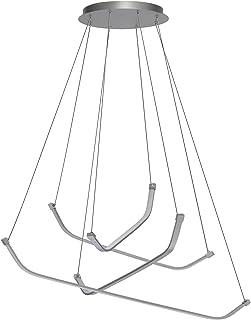 Mantra–Lampada a sospensione Papa LED 50W, colore: Cromo/Argento