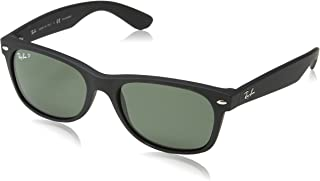 RB2132 New Wayfarer Polarized Sunglasses, Black...