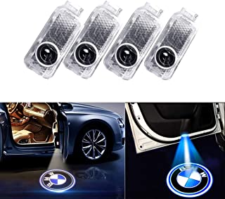 AMINEY 2 Pcs Door Light Car Vehicle Ghost LED Courtesy Welcome Logo Light Lamp Shadow Projector For AUDI Easy Installation /…