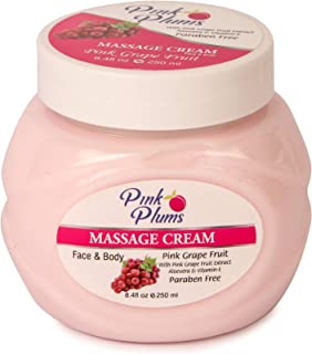 PINK PLUMS Glowing Pink Grape Fruit Massage Cream with Vitamin-E, 250 ml