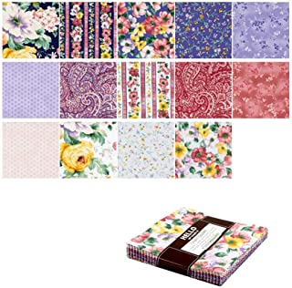 Robert Kaufman Woodside Blossom 5''Charm Pack 42 Piece Fabric, Spring