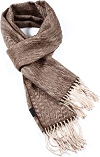 A.WAVE Softer than Cashmere Wool Touch Tassel Ends Plaid Check Solid Scarf