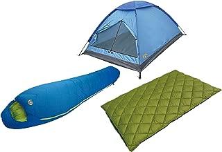 Alpinizmo High Peak USA Colorado 20F & Summit 20F + Monodome 3 Tent Combo Set, Blue/Green, One Size