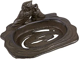Juvale Soap Dish – Decorative Iron Soap Dish Tray for Kitchen and Bathroom Sink, Brown - 5.2 x 2.8 x 3.8 Inches
