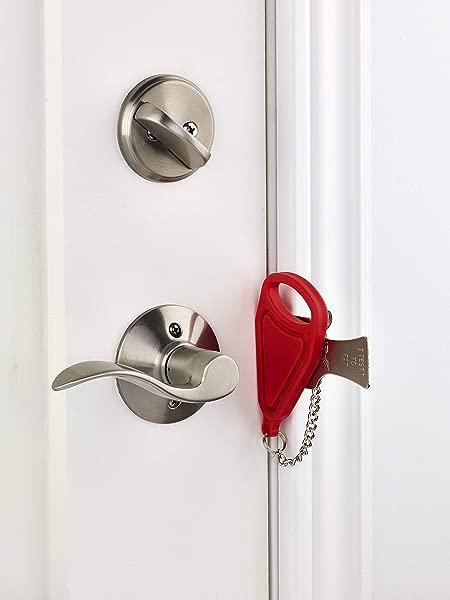 Addalock 1 Piece Portable Door Lock Travel Lock AirBNB Lock School Lockdown Lock