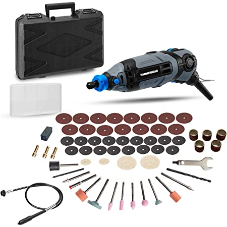 Hammerhead 1.2-Amp Rotary Tool with 62 Accessory Attachments and Carrying Case – HART012