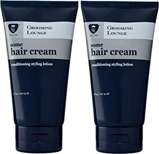 Grooming Lounge Some Hair Cream, Light Hold, No-Shine, non- Greasy, Styling Lotion, 5 oz, 2-Pack