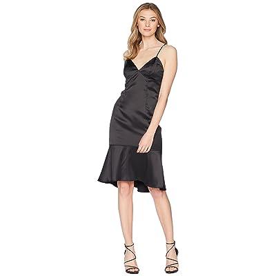 Bardot Henley Flounce Dress (Black) Women